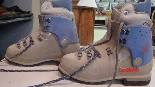 Rock Climbing Photo: Plastic Double Boots-