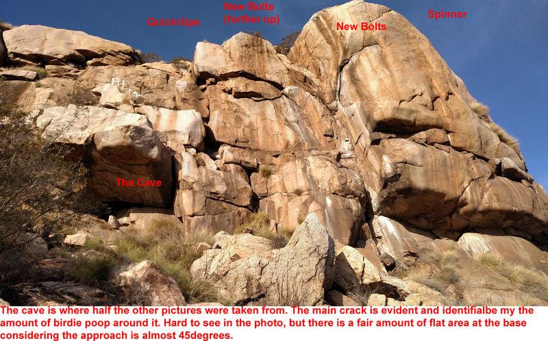 Rock Climbing Photo: Anchor Map (from base)