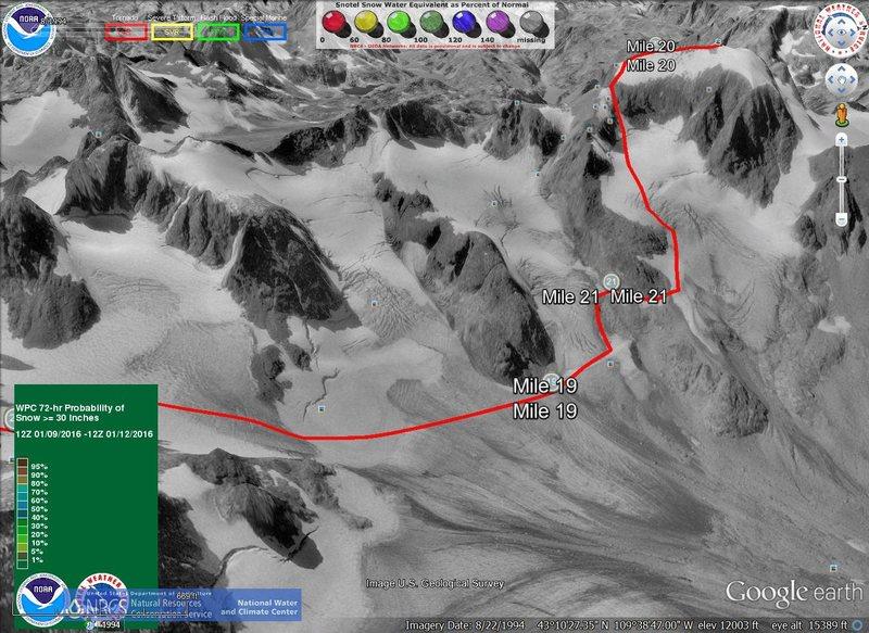 Rock Climbing Photo: Gannett peak 1994 #2