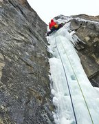 Dan Hughes starting up the second pitch on Jan 5 2016. This pitch had water running down it the ENTIRE way.