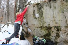 Rock Climbing Photo: Sticking the lip! pic by Troy Fauteux