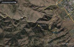Secret Waterfall on Google Earth.