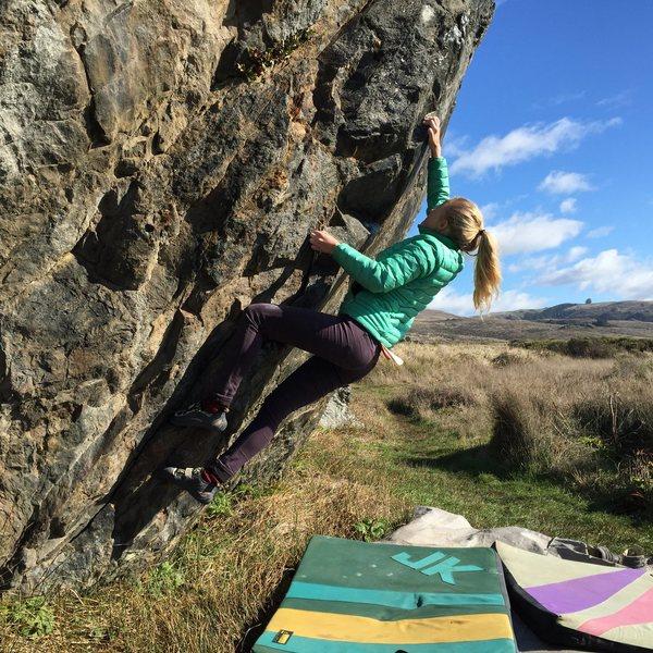 Rock Climbing Photo: Ashley Freeman working 'Hard Up'