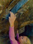 Rock Climbing Photo: Ashley Freeman enjoying a lap on Skull Cracker