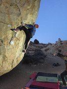 Rock Climbing Photo: JK down low