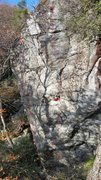 Rock Climbing Photo: The left route in this picture. The right one is s...
