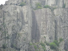 Rock Climbing Photo: Cenotaph Corner on Cromlech from the road below.