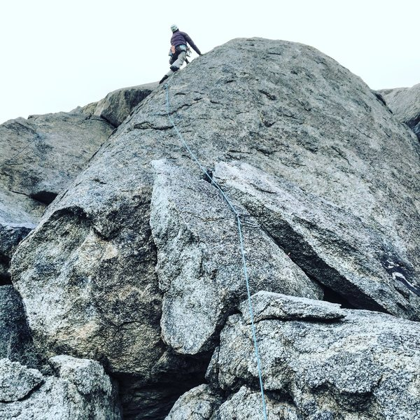 Rock Climbing Photo: Ann S. leading.