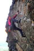 Rock Climbing Photo: the steepness right off of the belay ledge