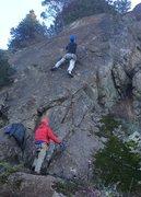 Rock Climbing Photo: Hutch leading Pick Pockets