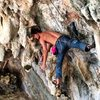 Zach Nadiak coping the sickest no-hands rest I have ever seen on this stellar route