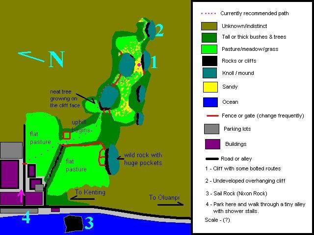 Rock Climbing Photo: Map to established limestone climbing