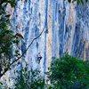 Zach Nadiak high up on Culo de Negra. Such a beautiful wall!