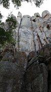 Rock Climbing Photo: The left crack line.