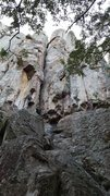 Rock Climbing Photo: Looking up Hanna Pack. The final crack on The Prow...