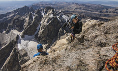 "Rock Climbing Photo: ""Working"" On the Grand Teton"