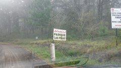 Rock Climbing Photo: Entrance sign for the park where the Jilotepec cli...