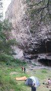 Rock Climbing Photo: One of the walls at Jilotepec with hard (5.13-14) ...
