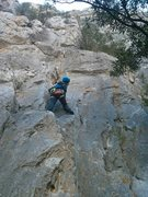Rock Climbing Photo: Smurfette on first few feet of 31 Foot Smurf. That...