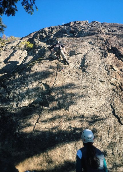 Rock Climbing Photo: Ben leading Lasting Impressions 5.9