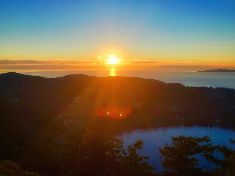 Sunset over the Puget Sound from Mount Erie