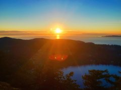 Rock Climbing Photo: Sunset over the Puget Sound from Mount Erie
