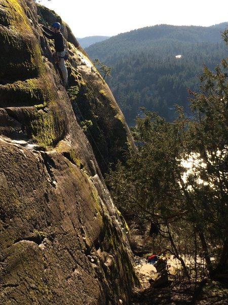 Rock Climbing Photo: Sunset Slabs
