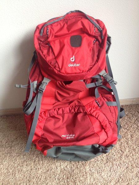 Rock Climbing Photo: Deuter backpack