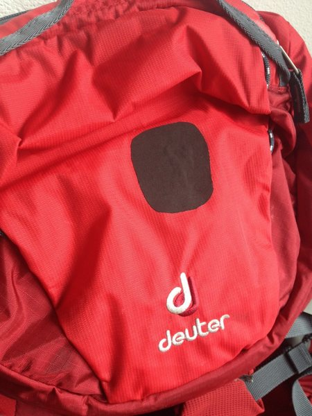 Rock Climbing Photo: Deuter patch with Tenacious Tape