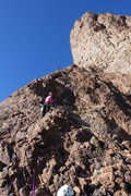 Rock Climbing Photo: Laurel belays Brian on pitch 2. We stopped at the ...