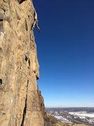 Rock Climbing Photo: Final moves.