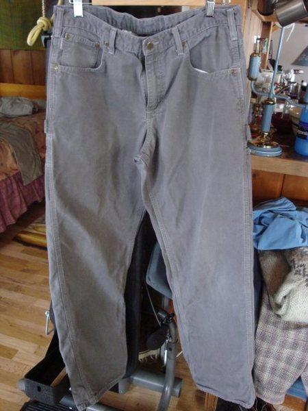 Canvas pants.