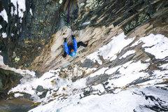 Rock Climbing Photo: Marc R. on the FA of P2 of Ephemeral Cortex.