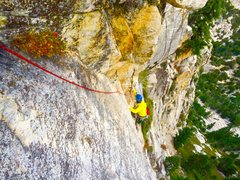 Rock Climbing Photo: Blake Hargis during the FA of the Golden Dihedral!...