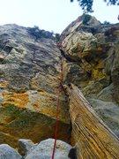 Rock Climbing Photo: Blake Hargis during the FA of Billy Goat Stoke!!