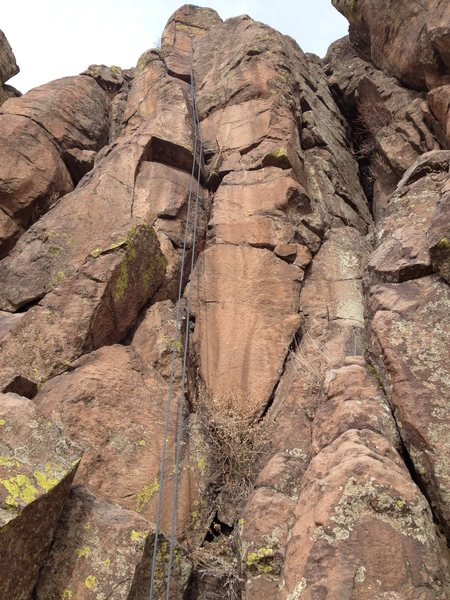 Rock Climbing Photo: The route follows the line of the rope.