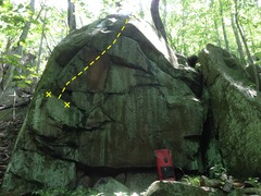 Rock Climbing Photo: Route in yellow