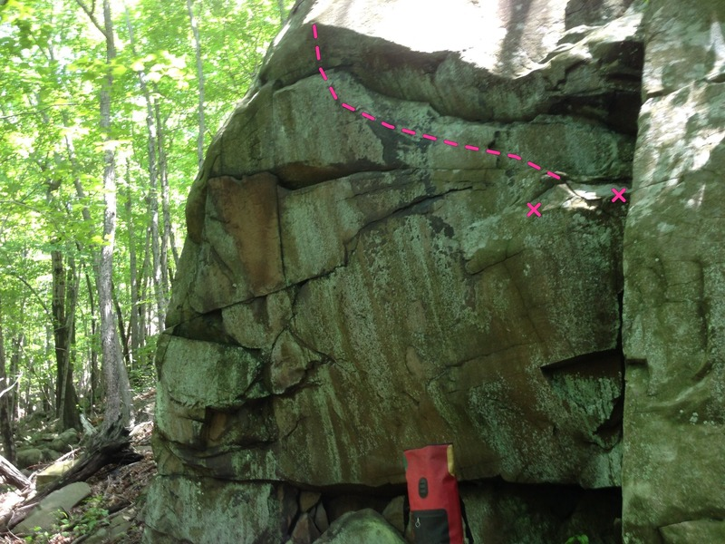 Rock Climbing Photo: route in pink