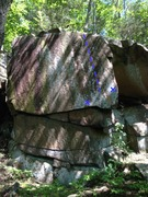 Rock Climbing Photo: Route in blue.