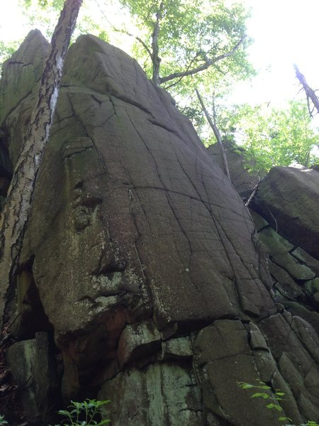 Rock Climbing Photo: This is the view of the detached boulder from belo...