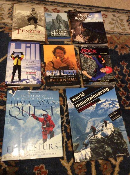 Rock Climbing Photo: Books
