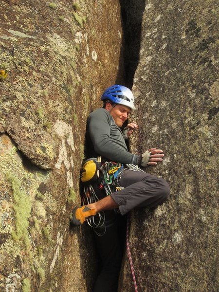 Rock Climbing Photo: Off-widths are fun they said...    Morro do Anhang...