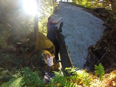 Rock Climbing Photo: Going for the Mantel