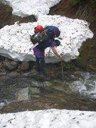 Rock Climbing Photo: How to describe terrain conditions?  Skis? Snowsho...