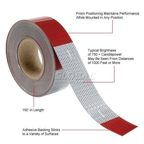 Prismatic tape, bicolor.