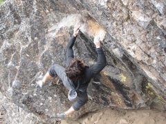 Rock Climbing Photo: cutting the feet loose; Careful not to hit the gro...
