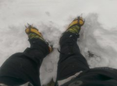 Rock Climbing Photo: East Glacier Knob RMNP my feet at the top