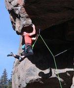 Rock Climbing Photo: thrusting up