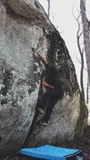 Rock Climbing Photo: Attempting the Unnamed Crack