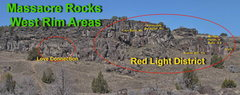 Rock Climbing Photo: Overview of Red Light District.